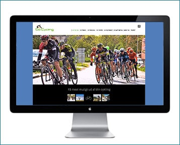 GoCycling hjemmeside