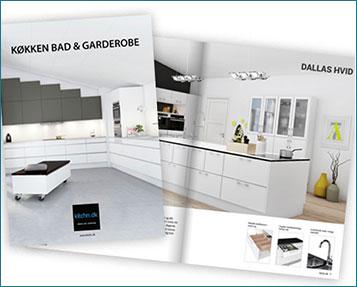 Brochure design til Kitchn.dk