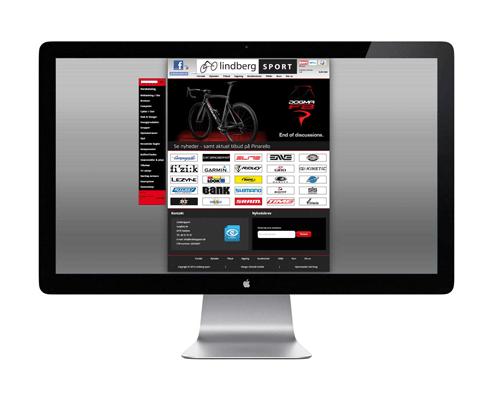 Lindberg Sport - Hjemmeside