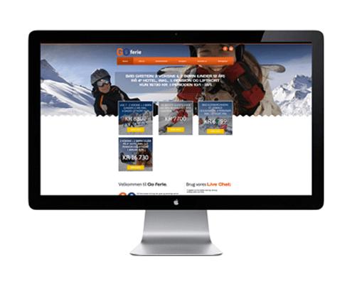 Go Ferie - Hjemmeside