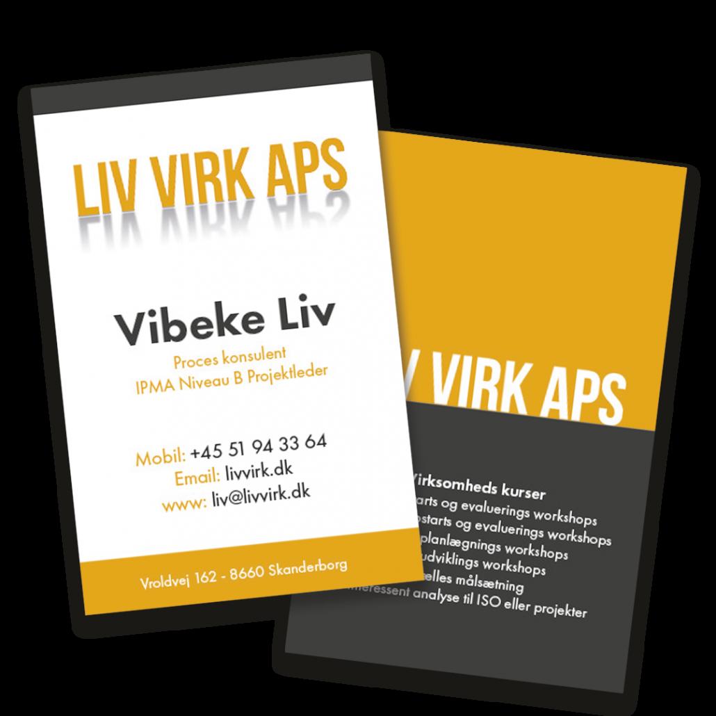 Liv Virk APS - Visitkort design