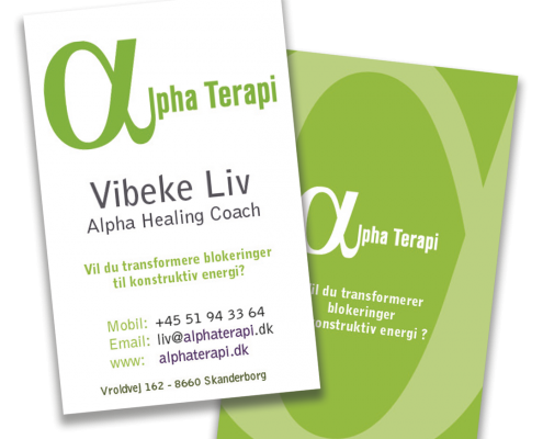 Alpha Terapi - Visitkort design