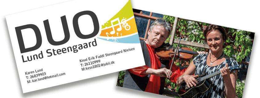 Individuelt og kreativt visitkort design