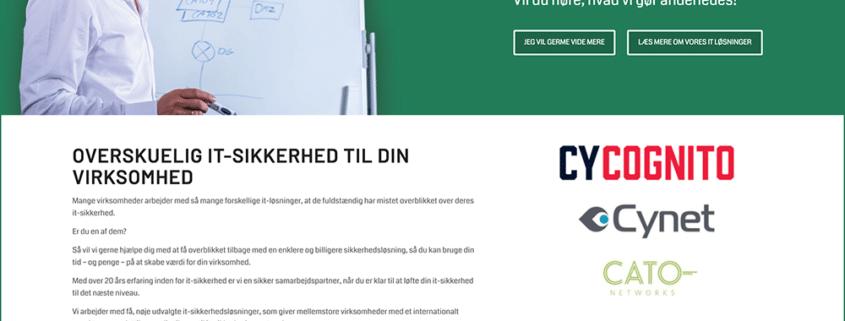 Hjemmeside design til Secher Security