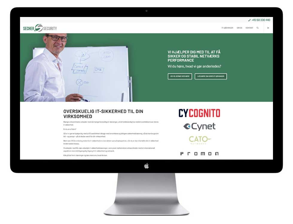 Nyt hjemmeside design til Secher Security