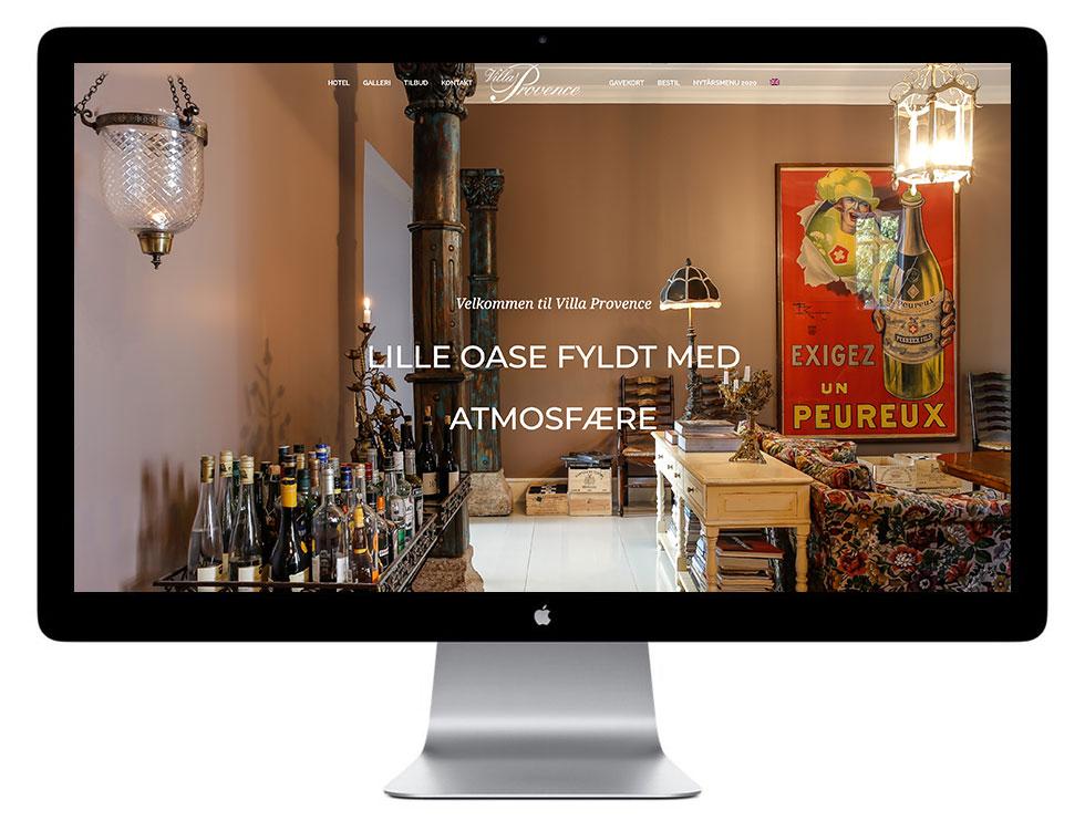 Nyt hjemmeside design til Villa Provence