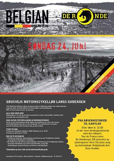 Schmidt Grafisk skaber branding med design af event plakat til Belgian Cycling Club